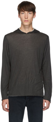 Rag & Bone Reversible Black and Grey Jersey Hoodie