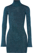By Malene Birger Errandi Metallic Ribbed-Knit Turtleneck Sweater