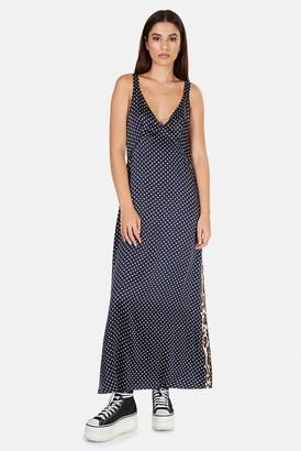 R 13 Long Wide Slip Dress