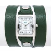 La Mer Emerald Green Silver Square Triple Wrap.