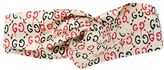Gucci Double Print Twill Silk Headband