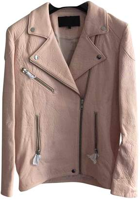 American Retro Pink Leather Leather jackets