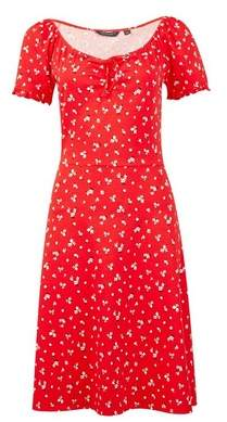 Dorothy Perkins Womens **Tall Red Ditsy Print Gypsy Skater Dress, Red