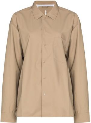 Rains Oversized Button-Up Shirt