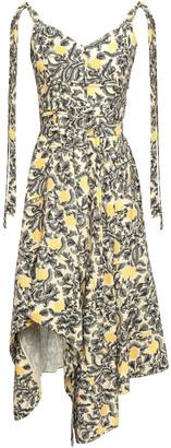 Proenza Schouler Asymmetric Floral-print Crepe Dress