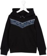 Diesel denim detail sweatshirt - kids - Cotton/Polyester - 8 yrs