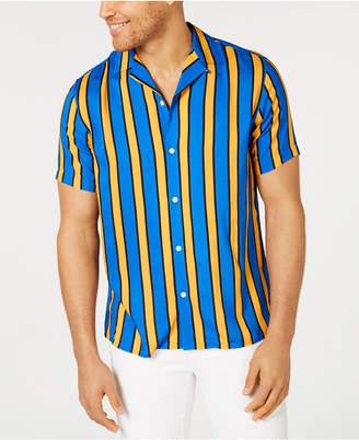 INC International Concepts Inc Men Camp Collar Striped Shirt