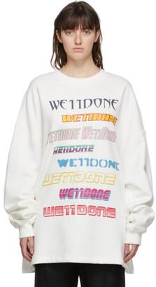 we11done White Fleece Logo Sweatshirt