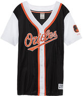 PINK Baltimore Orioles Mesh Button Down Jersey