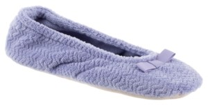 Isotoner Signature Isotoner Chevron Microterry Ballerina Slipper, Online Only