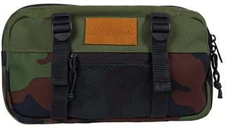 JanSport Way Out Suede (New Olive Camo) Backpack Bags