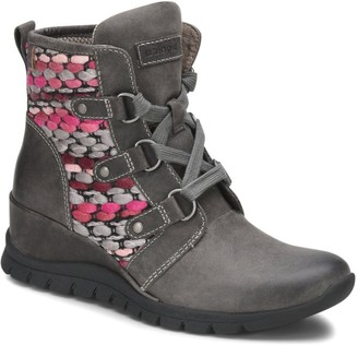 bionica All-Weather Lace-Up Leather Wedge Boots- Ollie