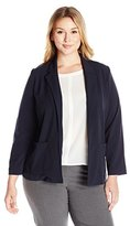Briggs New York Women's Plus-Size Bistretch Long-Sleeve Jacket