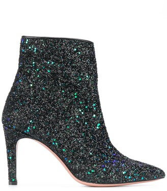 P.A.R.O.S.H. high heeled two tone glitter boots