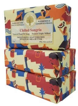 Sangria Wavertree & London Chilled Soap with Pack of 3, Each 7 oz