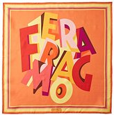 Salvatore Ferragamo Women's Patterned Silk Scarf, Coral