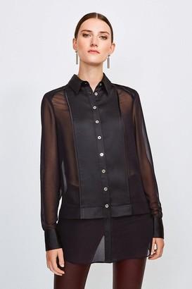 Karen Millen Sheer and Opaque Shirt