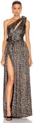 retrofete Andrea Dress in Bronze Leopard | FWRD