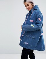 Lazy Oaf Bubble Denim Parka Jacket