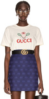 Gucci Logo Short Sleeve T Shirt in Sunkissed & Multicolor | FWRD