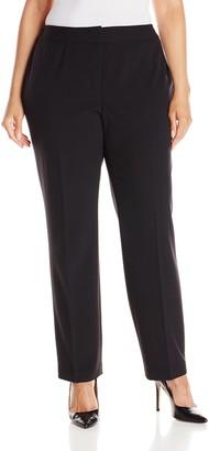 Nine West Women's Plus Size Stretch Crepe Trouser Pant