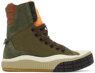 Chloé Green Clint High-Top Sneakers