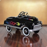 The Well Appointed House ITEM :Dexton Black Comet Sedan Pedal Car with Flames for Kids - OUT OF STOCK UNTIL 2017