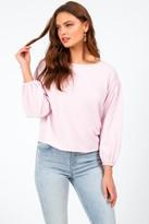 francesca's Kathleena Crochet Shoulder Top - Blush