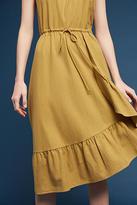34N 118W Flounced Silk Noil Dress