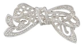 Downton Abbey Silver-Tone Crystal Edwardian Bow Bar Pin