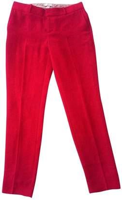 Banana Republic \N Red Cotton Trousers for Women