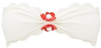 Marysia Swim Antibes Scallop-edge Bandeau Bikini Top - White Multi