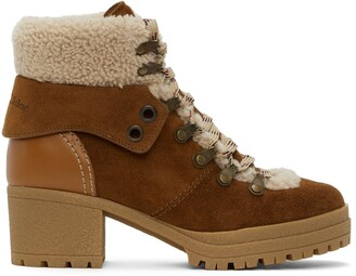See by Chloe Tan Eileen Heeled Boots