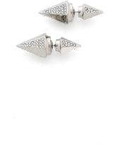 Vita Fede Titan Double Hexagon Crystal Earrings