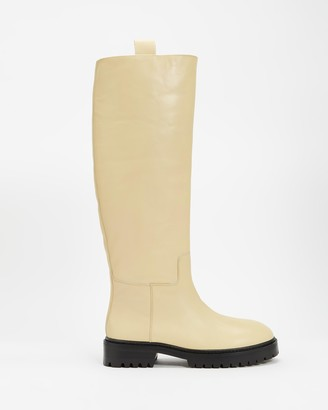 Mae Women's Neutrals Knee-High Boots - Maine - Size 39 at The Iconic