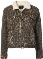 R 13 button-down leopard print jacket