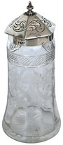 One Kings Lane Vintage English Sterling Top Sugar Shaker - 1842 - Rose Victoria - silver/clear