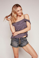Free People Womens RUNAWAY SLOUCH CUT OFF
