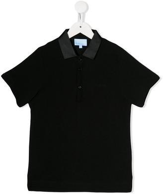 Lanvin Enfant Metallized Collar Polo Shirt