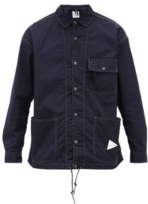 And Wander - Patch-pocket Cotton-blend Ripstop Shirt - Mens - Navy