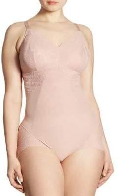 Spanx Women's Spotlight on Lace Bodysuit - Vintage Rose - Size 1X (14-16)