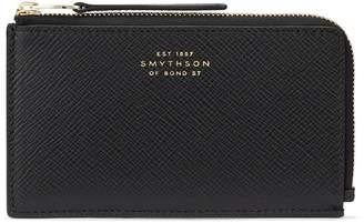 Smythson Panama Leather Flat Zip Wallet