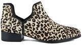 Senso Women's Bailey III Leopard Pony Ankle Boots Latte