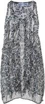Faith Connexion leopard print ruffle top - women - Silk - XS