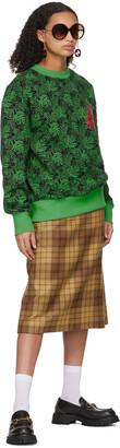 SSENSE WORKS SSENSE Exclusive Jeremy O. Harris Black & Green Rose Sweatshirt
