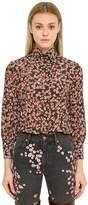 Isabel Marant Floral Printed Silk Crepe Shirt