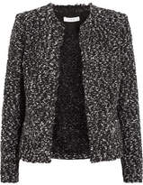 IRO Frayed Bouclé Jacket - Black