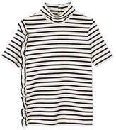 Petit Bateau Womens high neck top in heavy jersey