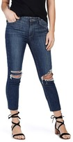 Paige Women's Jacqueline High Rise Ripped Straight Leg Jeans