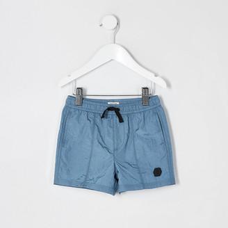 River Island Mini boys blue nylon shorts